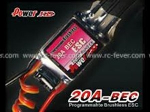 Power HD 20A Programmable Brushless Motor ESC