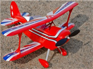 "J-Hobbies 4 Channel RC EP 31.0"" Balsa Wood Bi-Wing Pitts Scale Plane (ARF)"