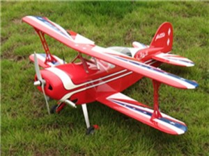 "J-Hobbies Pitts Special Challenger 40 - 42.5"" ARF Nitro Gas Powered Radio Remote Controlled BiPe Air"